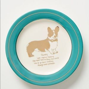 Anthropologie Other - Anthropologie Dog Biography Quincy Canape Plate